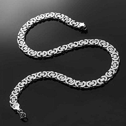 High Tech Edelstahl-Halskette als Königskette, High End