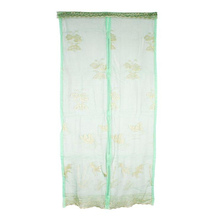 Flower Insect Fly Mosquito Net Mesh Screen Door Dark Green