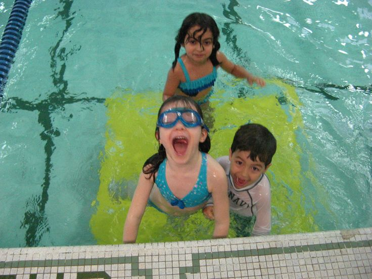 Weekly swimming lessons are part of the St. George's phys.ed curriculum
