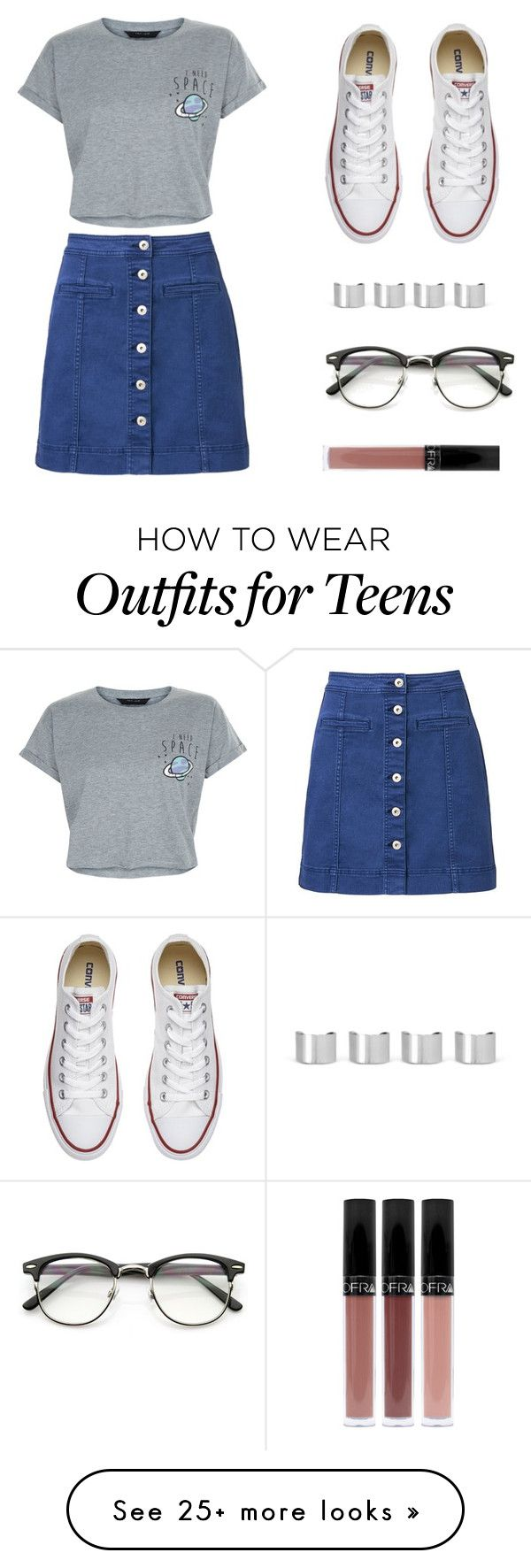 """Untitled #456"" by deborasilva02 on Polyvore featuring Witchery, New Look, Converse, Maison Margiela and ZeroUV"