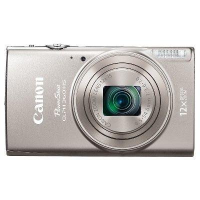 Canon PowerShot ELPH360 Camera - Dark Silver (1078C001)