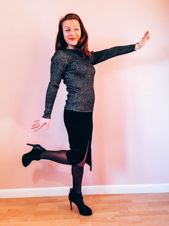 Silvesteroutfit steht! #silvester #silvester2015 #outfit #lurex #samt #ootd #winter #helenbillkrantz