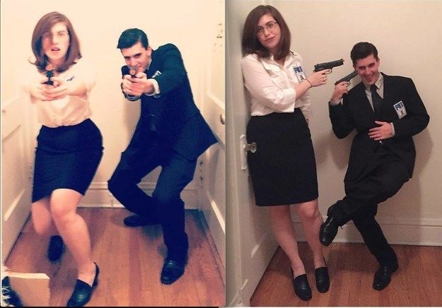Scully and Mulder from The X-Files | 31 Two-Person Costume Ideas That'll Up Your Halloween Game