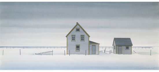 Christopher Pratt The House on Stage Head Marsh, 2002.