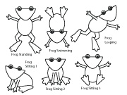 All kinds of Frog crafts..Very cute and has templates!