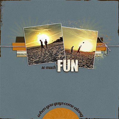 """""""So Much Fun"""" by Amy L, as seen in the Club CK Idea Galleries. #scrapbook #scrapbooking #creatingkeepsakes"""