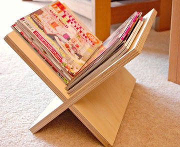Magazine racks don't come any easier than this – you just slot two squares together.