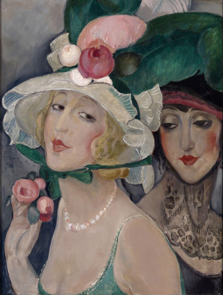 Gerda Wegener, Two Cocottes with Hats, c. 1925. Photo Morten Pors.jpg.zip