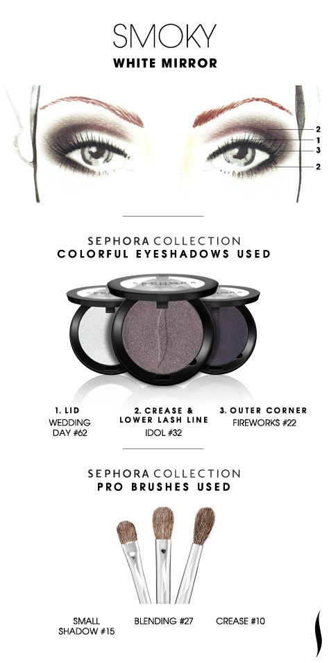 SMOKY: White Mirror HOW TO. #sephoracollection #sephora #eyeshadow @Refinery29 #SephoraSweeps