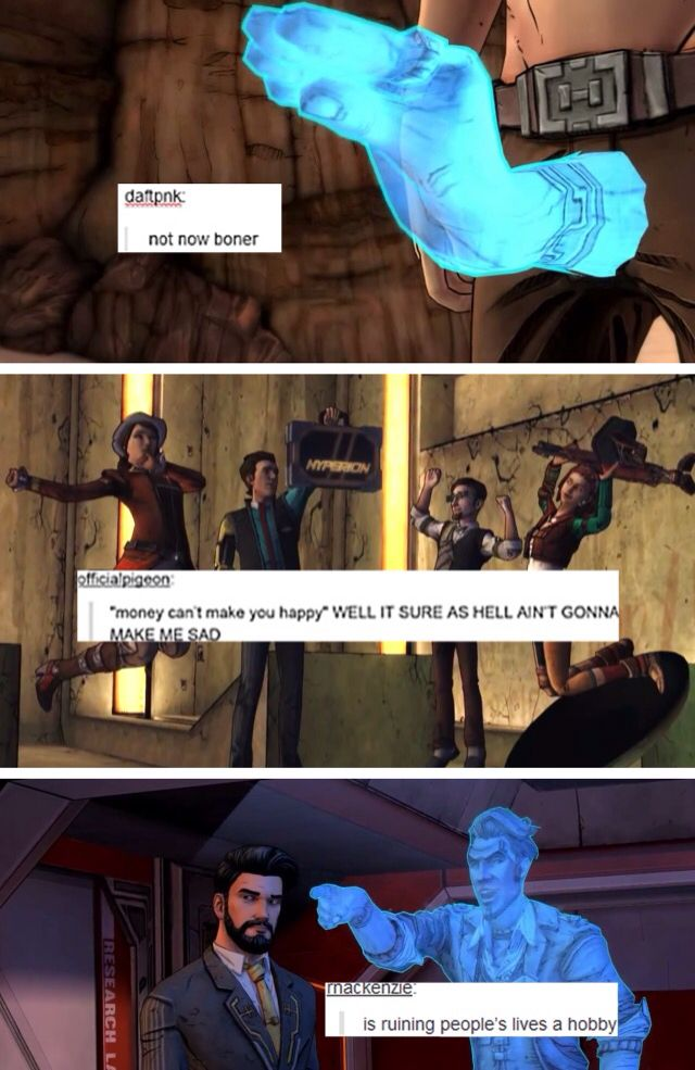 Tales from the borderlands + text post by losemyhome on Tumblr