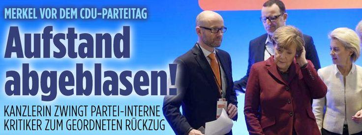 Merkel vor dem CDU-Parteitag: Und sie bewegt sich ... kaum! http://www.bild.de/politik/inland/angela-merkel/ohne-stimmung-43786332.bild.html