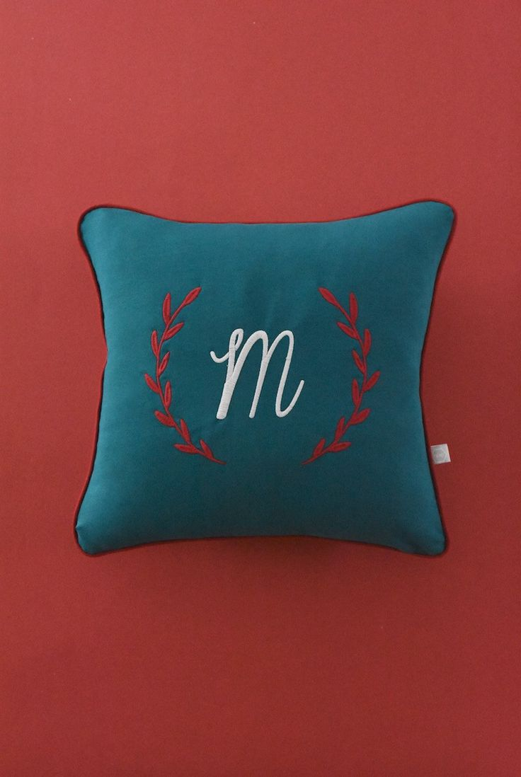 Customised cushion with embroidery