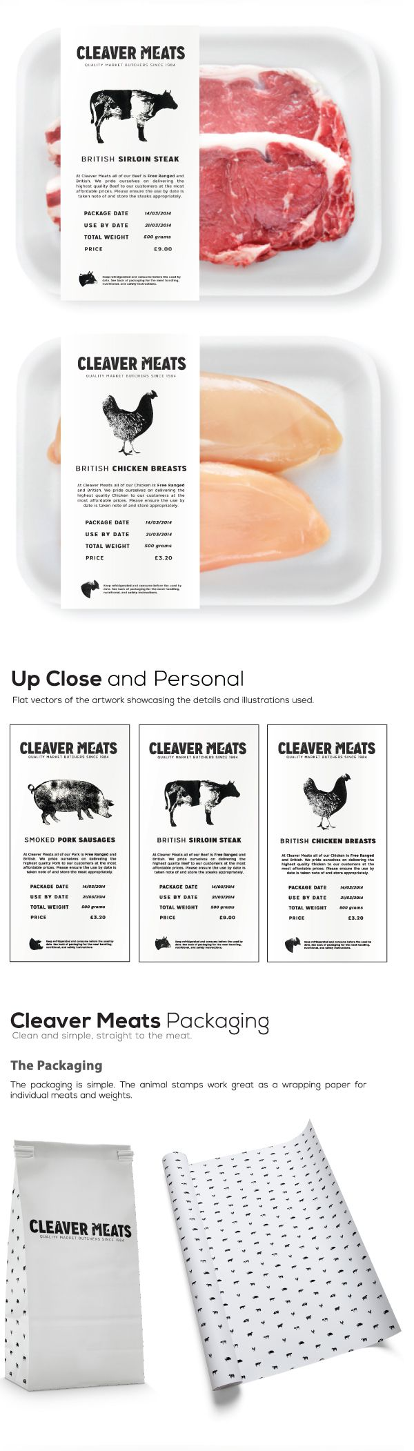 Cleaver Meats Butcher Shop on Behance