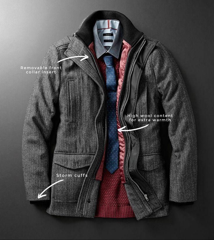 4-pocket herringbone car coat | Men's style I like | Pinterest