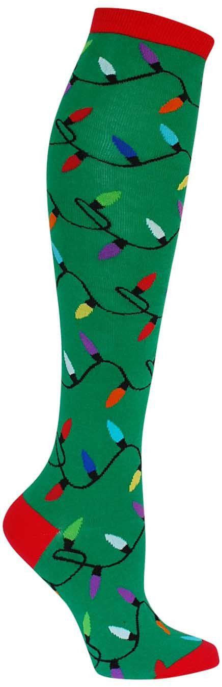 christmas lights knee high socks womens - Light Up Christmas Socks