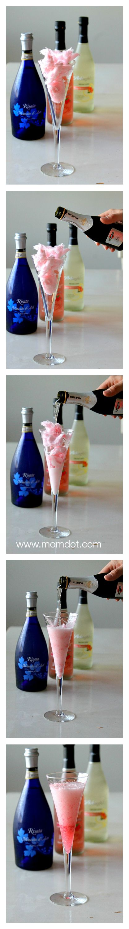 Add a little Cotton Candy to your Champagne , www.momdot.com