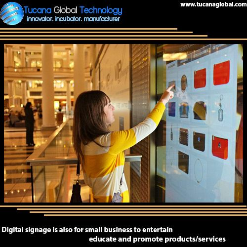 #Digitalsignage is also for #small #business to #entertain, #educate and #promote #products/#services. #TucanaGlobalTechnology #Manufacturer #HongKong