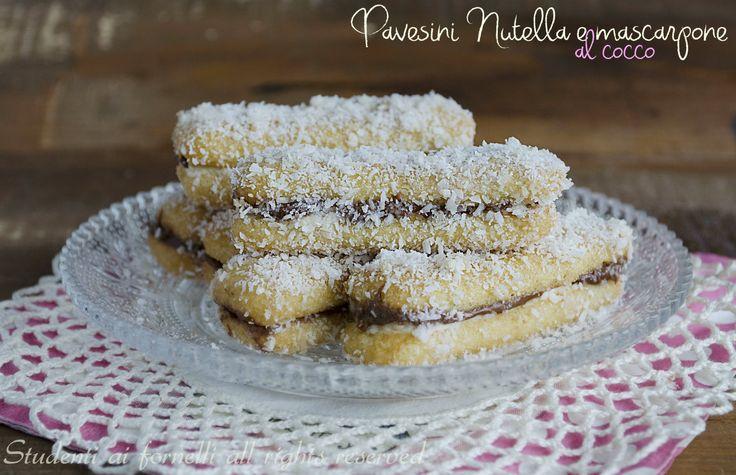 pavesini nutella e mascarpone al cocco ricetta dolcetti monoporzione per buffet e compleanni