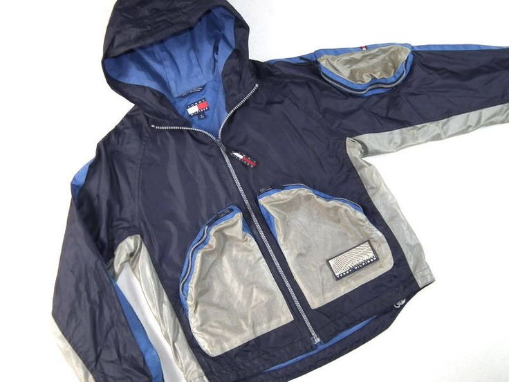 Tommy Hilfiger Windbreaker Size S by SweetSpicyVintage on Etsy