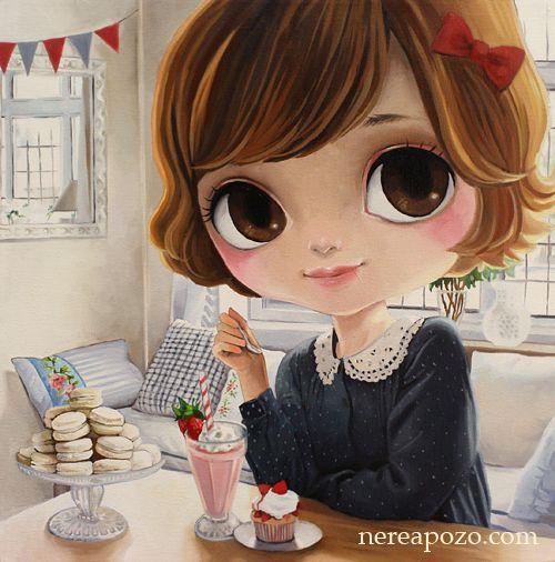 Nerea Pozo: Sweet Break Oil on Canvas 3D 40 x 40 cm 2013