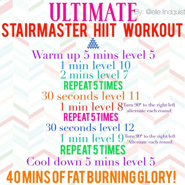 hiit, stairmaster, workout, cardio