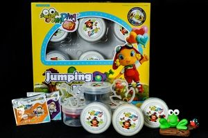 JumpingClay Jumping Kids Set plus Frog on a Log craft