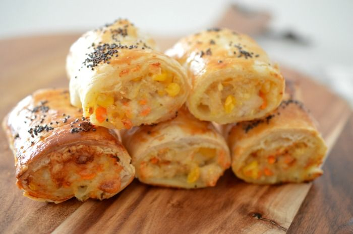 Easy Chicken and Cheese Sausage Roll Recipe