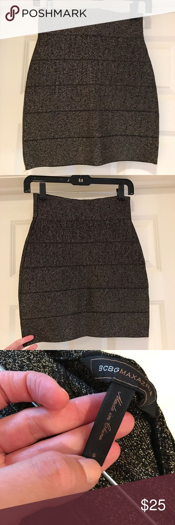 BCBG Metallic Skirt BCBG Metallic Skirt. Worn 2 times, excellent condition. BCBGMaxAzria Skirts Pencil