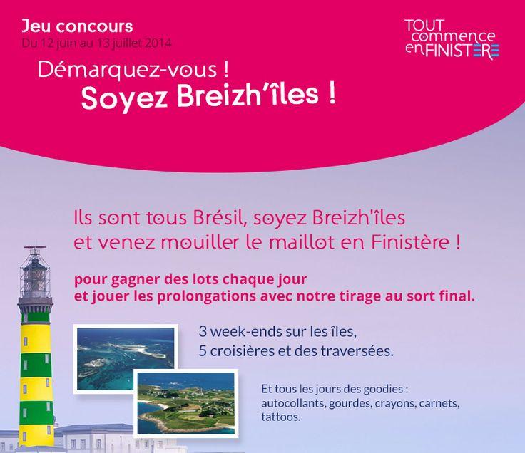 Réalisation d'un Jeu-concours calendrier, pendant la coupe du monde du Breizh'îles, pour Finistère Tourisme