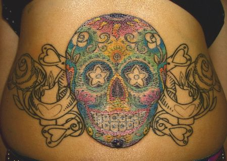 Pictures Skull Tattoos Mexican Gangster Tattoo Girl 16 Doblelol Com