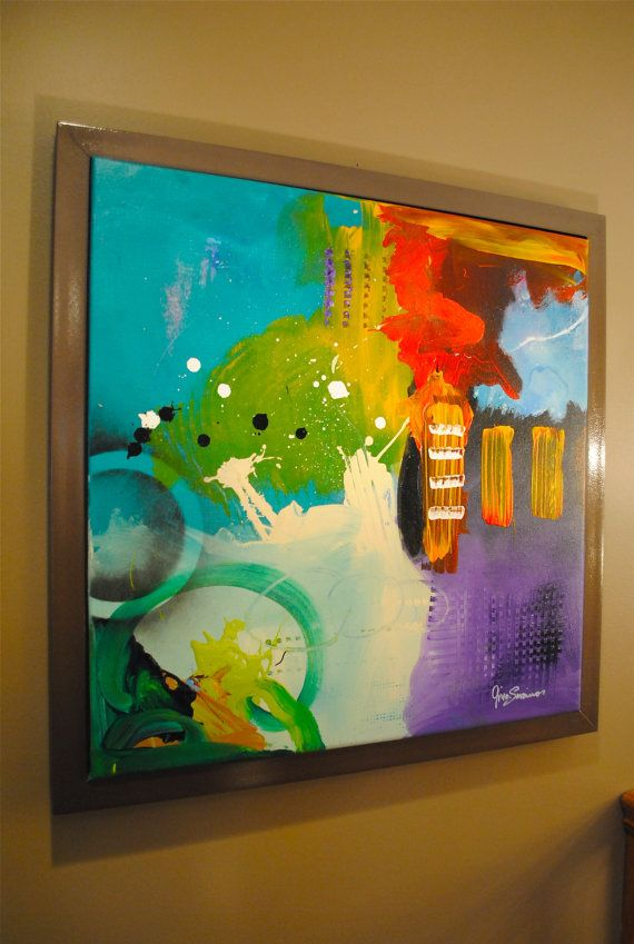Modern Abstract Canvas by Gino Savarino, Etsy artist verybigart.