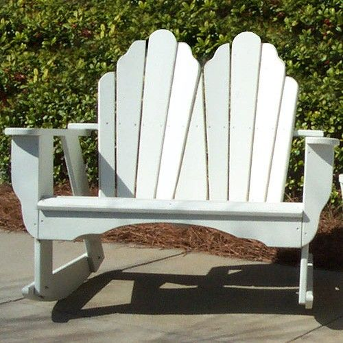 Uwharrie Chair Fanback Double Rocking Chair Pressure Treated   4053