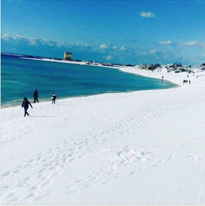 Snowfall Jan. 2017, Porto Cesarea