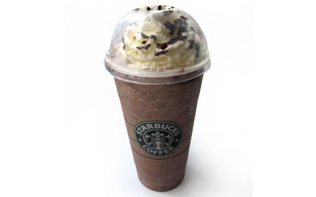 How to make Starbucks - Double Chocolate Chip Frappe at home...    Blend these items:    1 cup of milk (whole, reduced fat, or skim. For a special treat, add coconut milk)  2 tablespoons of sugar  1/3 cup chocolate chips (mmm... chocolate!)  3 tablespoons chocolate syrup (Hershey's will do)  2 cups of ice  1/8 teaspoon vanilla extract    recipe from:  http://my.opera.com/IceArdor/blog/2007/09/13/how-to-make-starbucks-double-chocolate-chip-frapuccinos