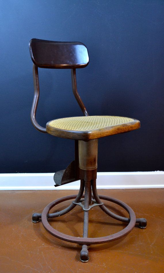 Rare Vintage Industrial Switchboard Operator Swivel Chair