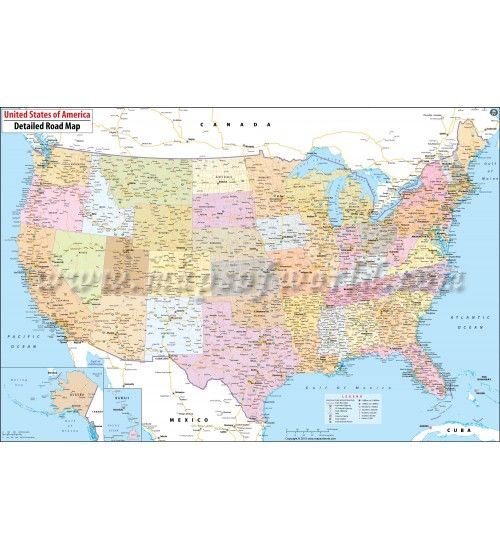 Buy Usa Road Map Large Road Map Of Usa Online