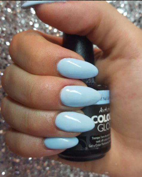 Artistic Colour Gloss Graceful on Almond shape nails
