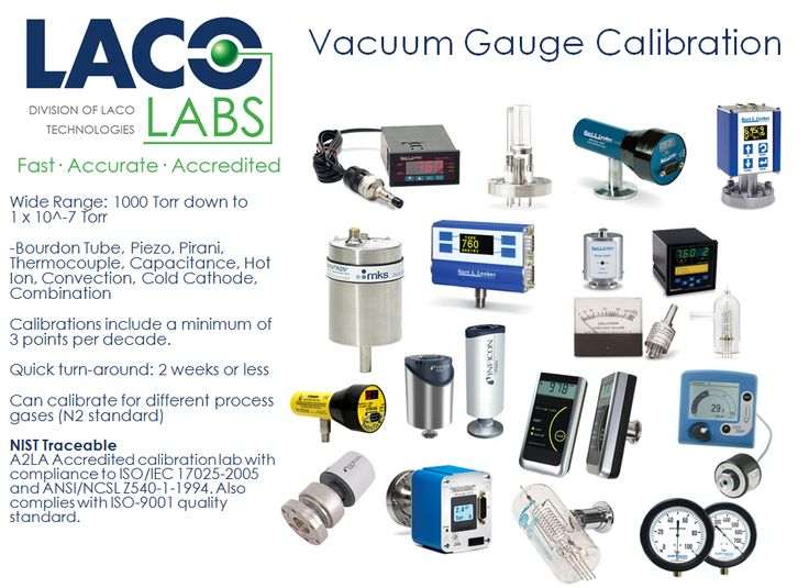 Laco calibrates all brands models and types of vacuum