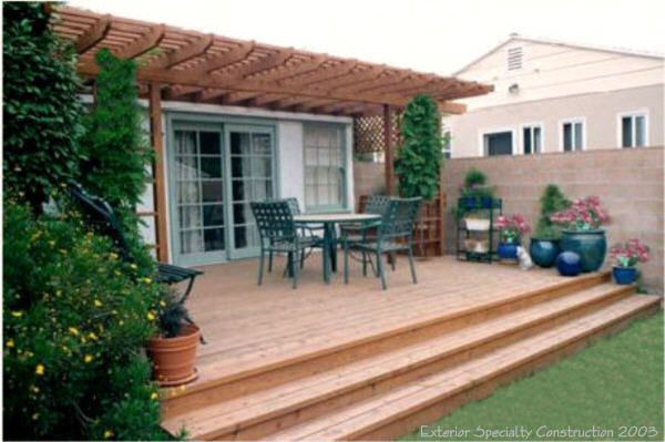 Low deck ideas for the back yard