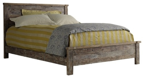 Hampton Teak Platform California King Bed - eclectic - beds - santa barbara - Zin Home   Love the bedding more than the bed