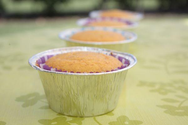 Muffin allo zenzero e miele di limone con farina di kamut e integrale