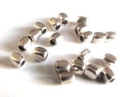 Kovové korálky 3x2mm stříbrná / 20ks