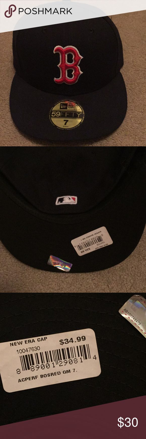 Boston Red Sox Baseball Cap Size 7 Boston Red Sox fitted baseball cap in excellent unused condition New Era Accessories Hats