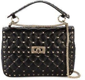 Valentino Women's Black Leather Shoulder Bag.