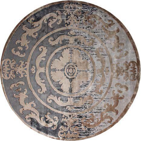 Круглый ковер светло-розовых оттенков Pompadour Shadow Rond #carpets #rug #ковер #designer #interior #marqis