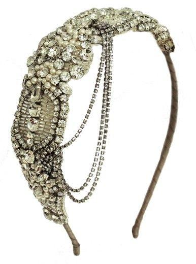 Art Deco  Inspired Headband......