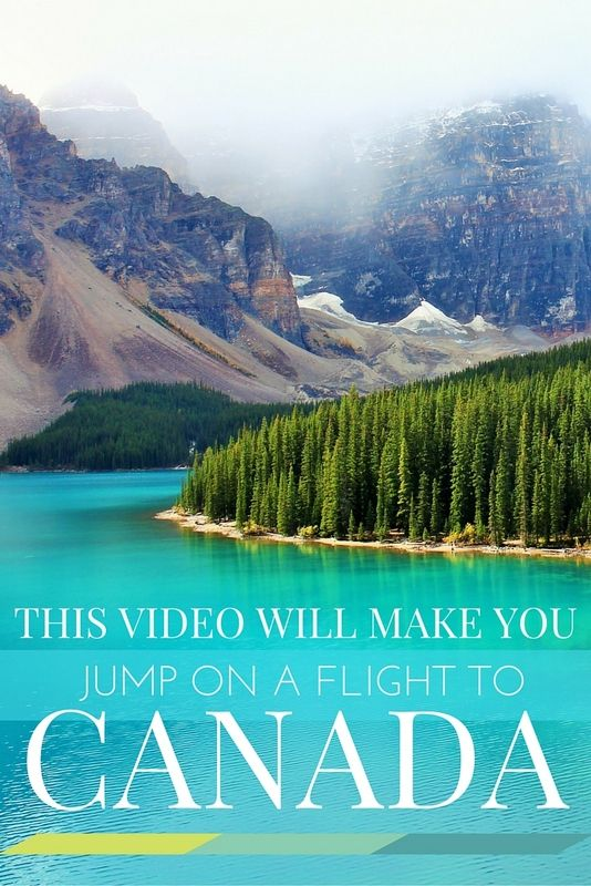 Click through to watch this amazing video of travel in Canada. I guarantee that after 3 minutes you'll be convinced to jump on a flight!