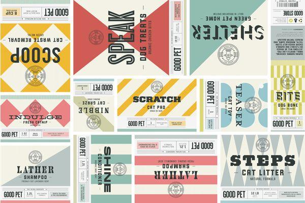 The Good Store on Behance typography, branding, retro, geometric, colors, pattern, stripes