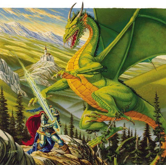 Dragon Blade (Companion D) by Larry Elmore
