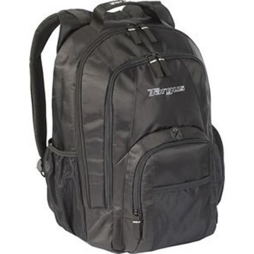 """Targus Groove Notebook/Laptop Backpack (CVR600). Targus Groove notebook backpack Padded sleeve protects notebooks with screens up to 15.4"""" Front storage section includes padded cd & mobile phone pockets with port hole for headphones, pen loops, and key clip Extra pocket for files or accessories Side Pocket for extra storage and water bottle transport Durable PVC bottom to protect against water and..."""